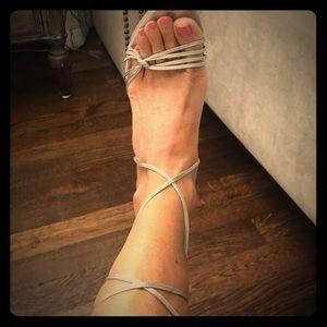 Jimmy Choo Silver Strappy heels